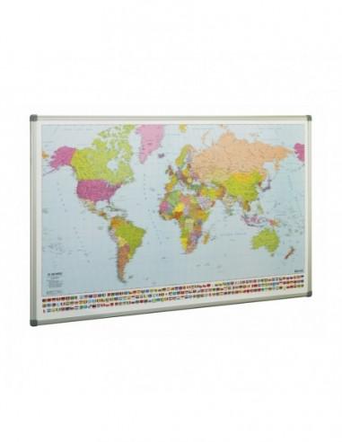Mapa MUNDI 84x140 Magnético