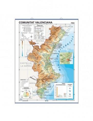 Mapa Mural Comunidad VALENCIANA...
