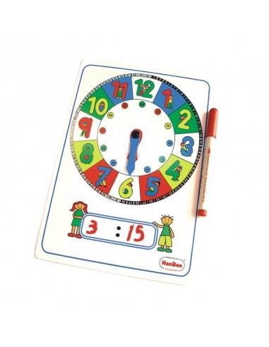 Reloj manual de números