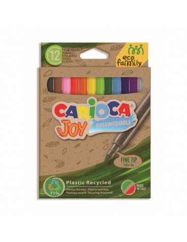 Rotulador Carioca Joy ECO 12 colores